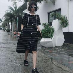 Sonne - 条纹连帽连衣裙