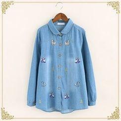 Fairyland - Embroidered Denim Shirt