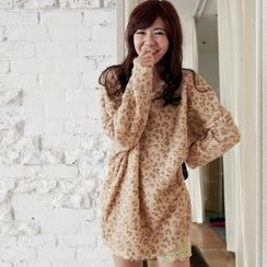 BAIMOMO - Furry-Knit Tunic