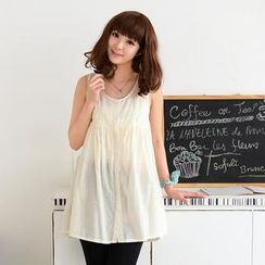 59 Seconds - Sleeveless Lace-Trim Top