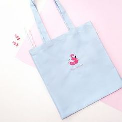 BABOSARANG - Embroidered Canvas Shopper Bag