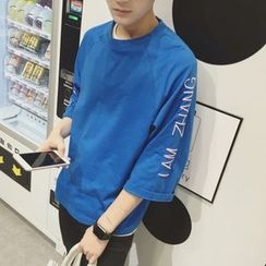 ZZP HOMME - Lettering 3/4 Sleeve T-Shirt