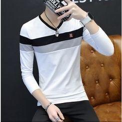 Izme - Color Panel Long Sleeve T-Shirt