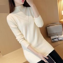 MayFair - Mock Neck Long Sweater