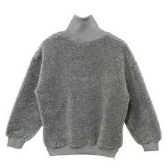 Mr. Cai - Mock-Neck Zip-Accent Fleece Pullover