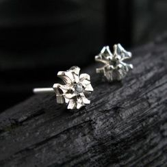 Sterlingworth - Hand Made White Sapphire Single Stud Earring