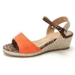 MODELSIS - Linen Blend Wedge Sandals