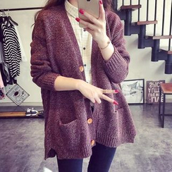 Lucy Girl - Melange Long Cardigan