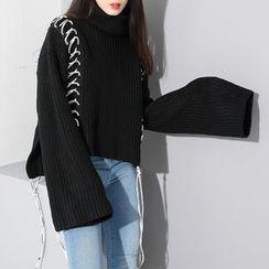 Ultra Modern - 繫帶粗織毛衣