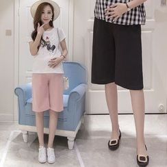 The Mommy Club - 孕婦純色雪紡短褲