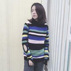 Champi - 条纹镂空毛衣