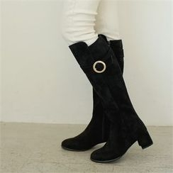 Styleberry - Faux-Leather Long Boots
