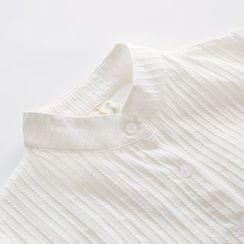 Bonbon - Band Collar Long-Sleeve Shirt
