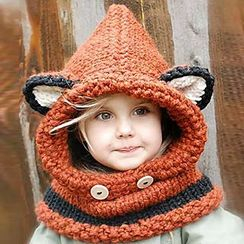 Pompabee - Kids Fox Hooded Scarf
