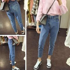 Oaksa - Cropped Harem Jeans