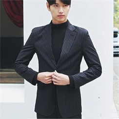 MITOSHOP - Single-Breasted Pinstriped Jacket