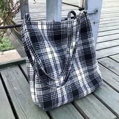 Ms Bean - Plaid Shopper Bag