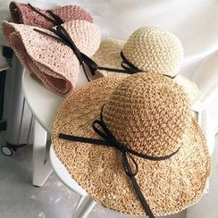 FROME - Bow Straw Hat