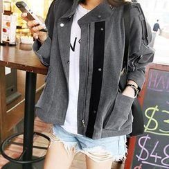 NANING9 - Stand-Collar Zip Jacket