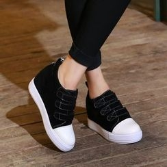 JY Shoes - Hidden Wedge Velcro Sneakers