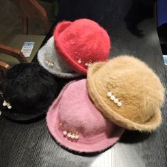 Azalea - Pearl Knit Bowler Hat