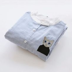Bonbon - Cat Embroidered Shirt