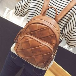 Nautilus Bags - Woven Faux Leather Backpack