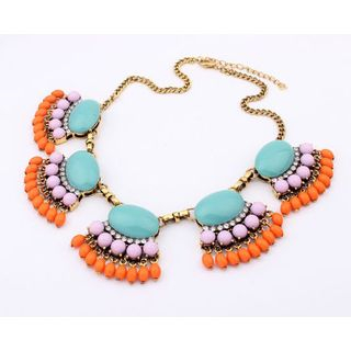 Best Jewellery - Rhinestone Beaded Statement Necklace