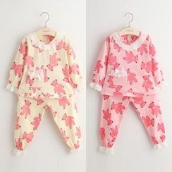 Seashells Kids - Kids Pajama Set : Printed Long-Sleeve Top + Pants