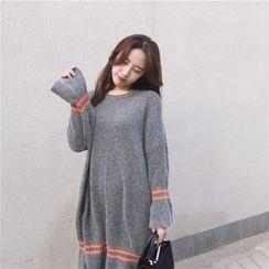 QZ Lady - Striped Midi Sweater Dress