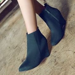 Gizmal Boots - Wedged Pointy Ankle Boots