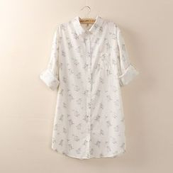 Tangi - Birdcage Print Shirt