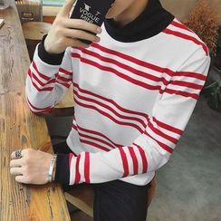 JVR - Long-Sleeve Striped Top