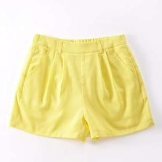 Moonbasa - Pleated Belted Shorts
