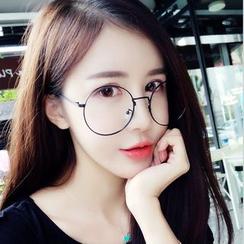 MOL Girl - Metallic Round Glasses Frame