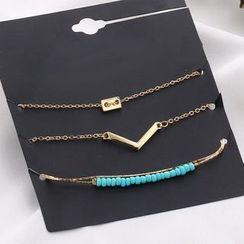 Darlin - Multi-Chain Bracelet Set