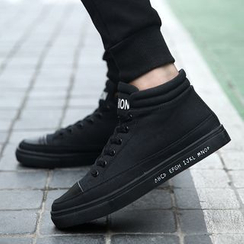 MARTUCCI - High-Top Canvas Sneakers