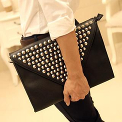 BagBuzz - Studded Envelope Clutch