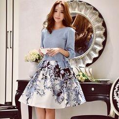 Dabuwawa - Floral A-Line Skirt