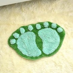 Doodles - Footprint Floor Mat (Green/S)