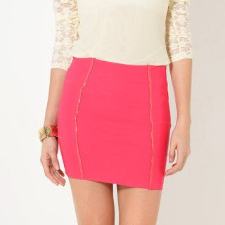 59 Seconds - Zip-Accent Pencil Skirt