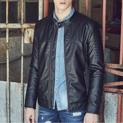 2RZ - Faux-Leather Zip Jacket