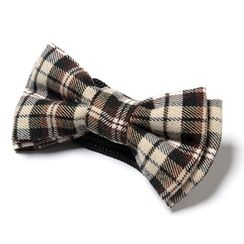 YesStyle M - Plaid Double Bow Tie