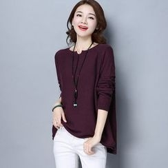 Romika - Split-neck Knit Top