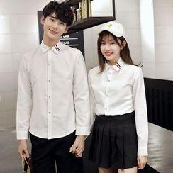 Je T'aime - Couple Matching Striped Shirt