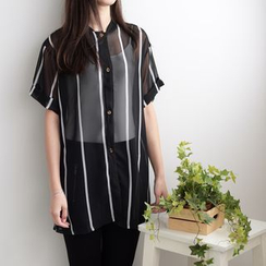 QZ Lady - Striped Long Shirt