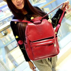 TAIPEI STAR - Faux-Leather Embossed Backpack