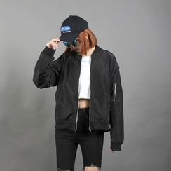 Momewear - Embroidered Zip Jacket