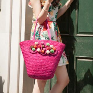Miss Sweety - Appliqué Woven Tote