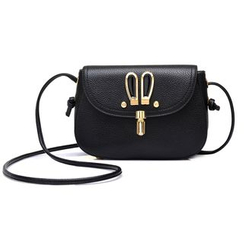 BeiBaoBao - Faux-Leather Push-Lock Cross Bag